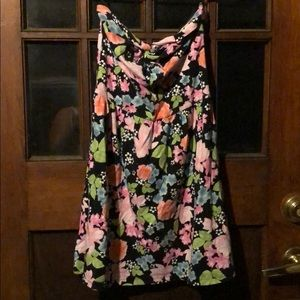 Strapless floral dress fits like XS